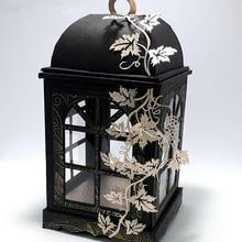 Elegante lanterna com tampa de corte de metal morre estênceis para diy scrapbooking carimbo/álbum de fotos decorativo gravando cartões de papel diy