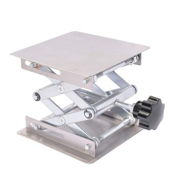 Stainless Steel Lifting Table Manual Aluminum Oxidation Lifting Table Laboratory Lifting Device Lab Lifting Stand Rack