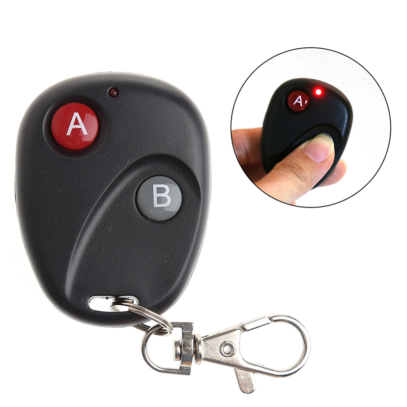A&B Key DC12V Gate RF Wireless Remote Control Garage Door Transmitter 433MHz