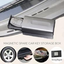 Coffre fort à clé magnétique noir, nouveau, boîte secrète à clés magnétique boîte de support, pour lextérieur, avec aimant, pour la maison, le bureau, le camion, en caravane