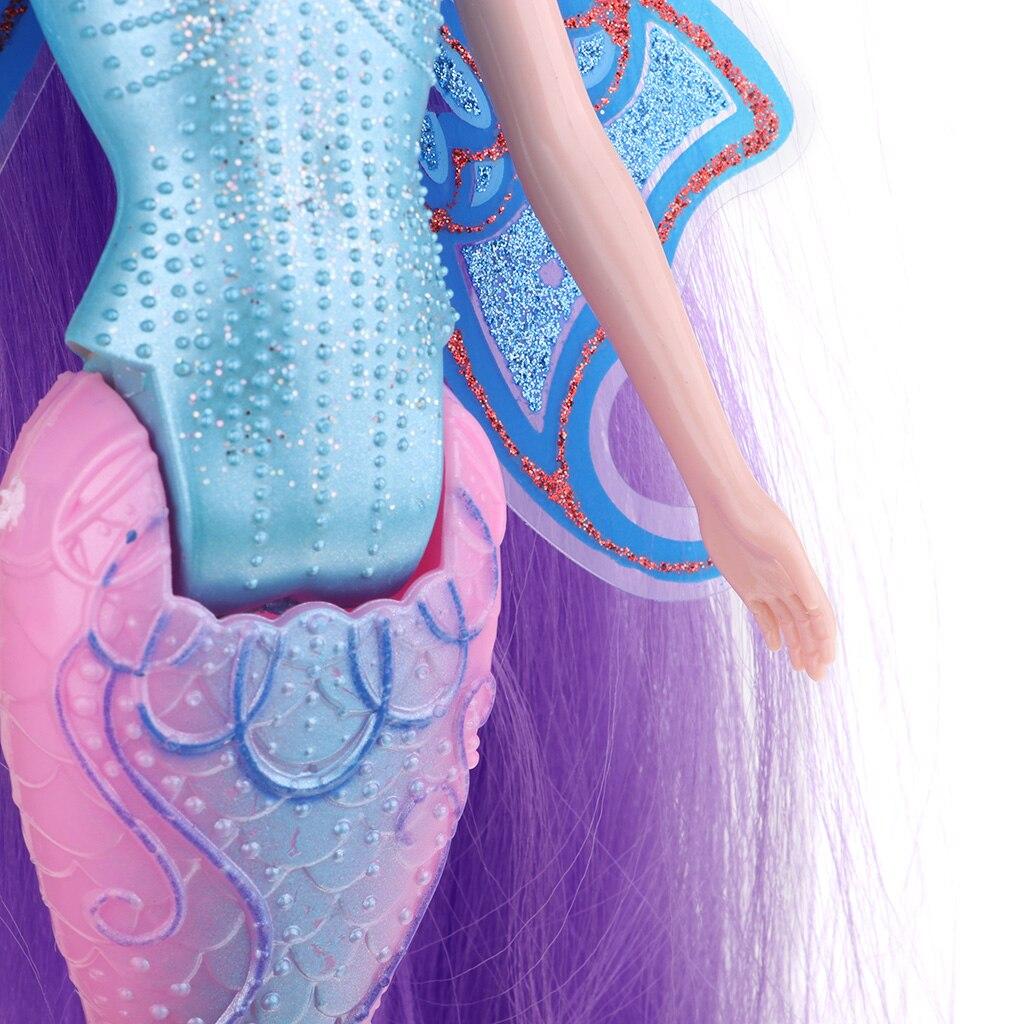 Hohe Qualität Kunststoff Spielzeug Klassische Meerjungfrau Puppe Mädchen Weibliche Action-figuren # C