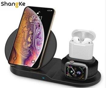 Caricatore senza fili, 3 in 1 Senza Fili di Ricarica per Apple Watch, Stazione di Ricarica per Airpods, veloce Senza Fili Del Caricatore Del Bacino (Nero)