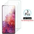3 шт. закаленное стекло для Samsung Galaxy S20 FE 5G, Защита экрана для Samsung s20fe Galaxys20 SM-G781B Tremp, защитное стекло