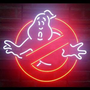 Image 1 - Barra della birra dellinsegna della luce al Neon di vetro fantasma di Ghostbusters su ordinazione