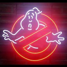 Personalizado ghostbusters ghost vidro neon sinal de luz barra de cerveja