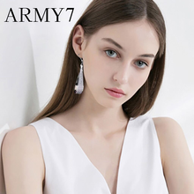 Luxury Brand Big Drop Earrings Silver Matte Geometric Pendant Temperament Exaggerated Dangle Earring Sparkling Prom Jewelry Gift(China)