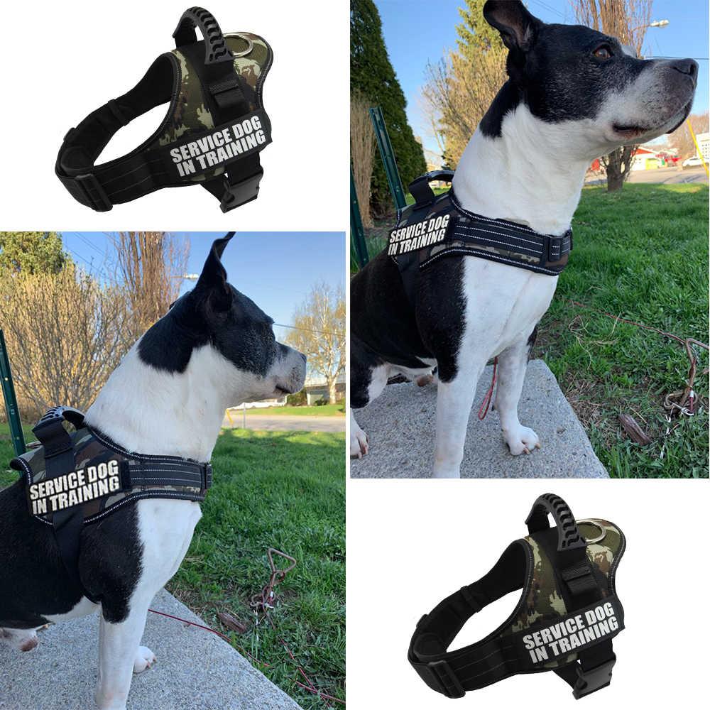 Arnés de perro personalizado con mango reflectante ajustable Anti-colisión chaleco arnés de perro arnés para el cuello de perros grandes