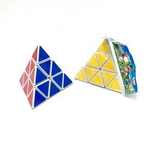 Image 4 - Lesiostress Originele 3X3X3 Piramide Magische Kubus Piramide Cubo Magico Professionele Puzzel Onderwijs Speelgoed Voor Kinderen
