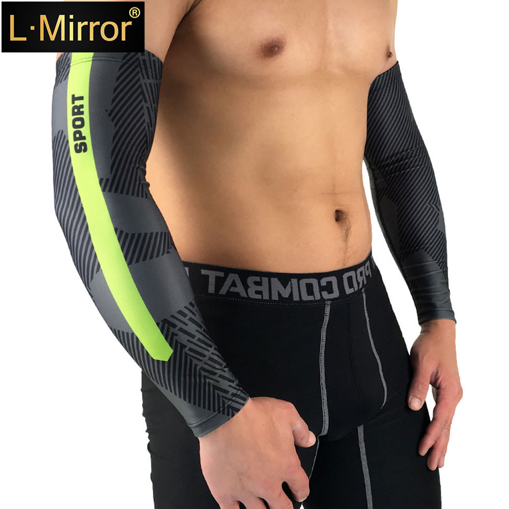 L.Mirror 1Pair UV Protection Cooling Arm Compression Sleeves - Sun  Suit For Cycling Driving Golf Basketball Outdoor Activities