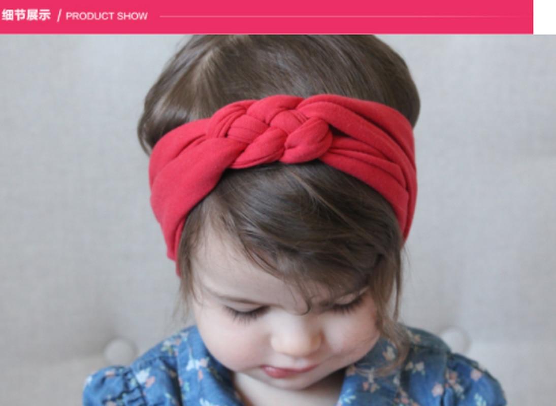 New Braided Headbands Baby Rabbit Ear Headband   Kids Girls Twisted Cross Knot Headwraps Hair Accessory Elastic Soft Hairbands