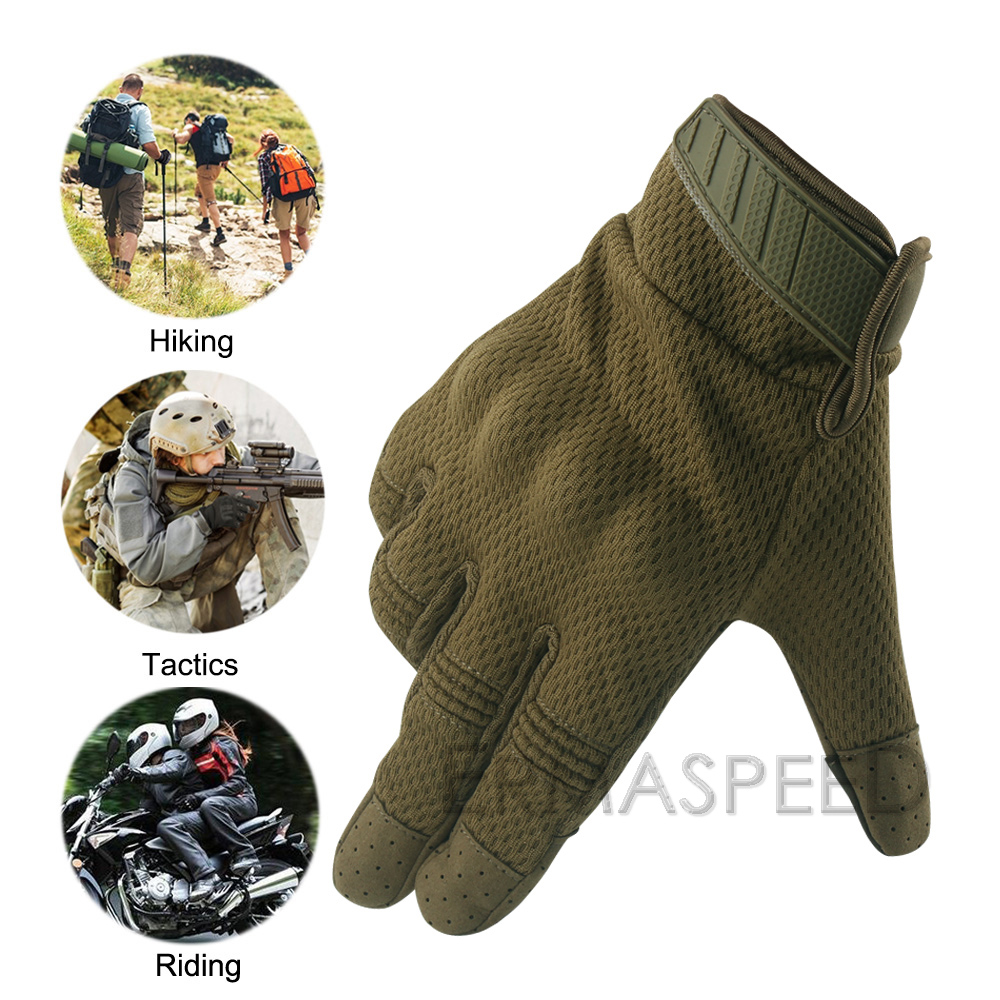 Image 3 - Breathable Motorcycle Gloves Tactical Military Racing Riding Gloves Winter Motocross Enduro ATV Touch Screen Men Biker Gloves-in Gloves from Automobiles & Motorcycles
