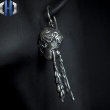Original Design The Weeping Angels Crying Angel Earrings Cute Kid Wild 925 Silver