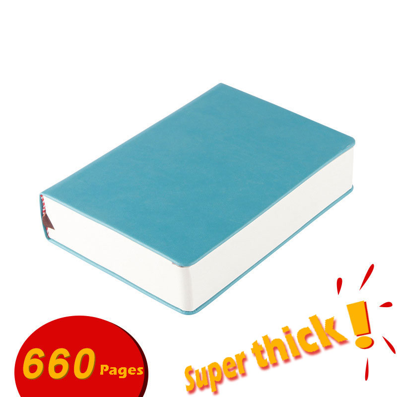 Super thick sketchbook <font><b>Notebook</b></font> 330 sheets blank pages Use as diary, <font><b>traveling</b></font> journal, sketchbook A4,<font><b>A5</b></font>,A6 Leather soft cover image