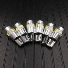 6 pces carro led t10 canbus 194 w5w 6smd 5630 led estacionamento luz lateral nenhum erro leitura indicador lâmpadas 12v turn signal dome lâmpada