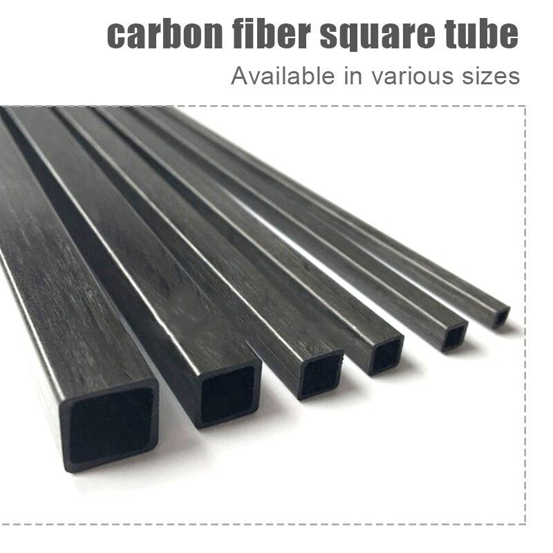 8pcs 5 x 5 x 4 x 1000 mm Carbon Fiber Square Tube Pipe w// 4mm Round Hole
