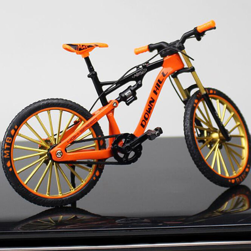 1:10 Scale Diecast Metal Mountain Bicycle Bike Model Toys Curved Racing Cycle Cross Bike Replica Collection For Kids Toys Gift