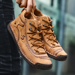 Image 3 - Bottines en cuir pour hommes, chaussures de neige chaudes en fourrure, de bonne qualité, confortables, chaudes, hiver, 48