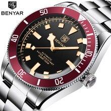 BENYAR Black Mens Watches 2021 Brand Luxury Mechanical Watch Men Automatic Wristwatch 100M Waterproof Luminous Stainless Steel