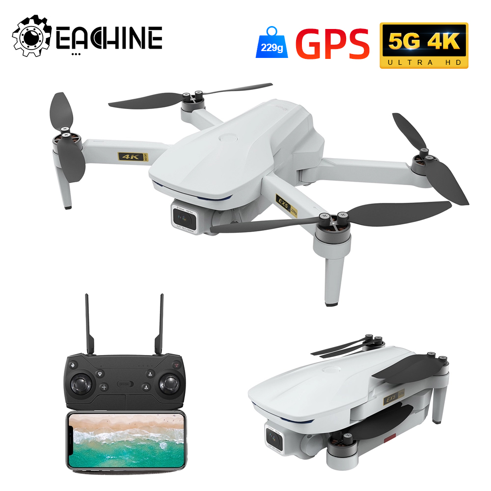Eachine EX5 RC Quadcopter 30mins Flight Time MINI Selfie Drone 5G WIFI FPV GPS With 4K HD Camera Brushless Motor Foldable Dron|Camera Drones| - AliExpress