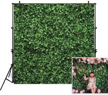 Tissu feuilles vertes toile de fond (pas d'herbe artificielle) pour la photographie de Studio Photo nature morte herbe feuille Floordrop image Backgro(China)
