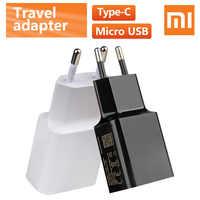 Xiaomi-cargador Original de 5V/2A para móvil, adaptador de carga europeo para Xiaomi MI5 Max 3S Redmi Note 3 4 Pro 4X 5 5S tipo C Cable de datos Micro USB