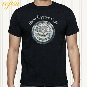 Blue Oyster Cult Logo Heavy Metal Rock Band Men Black T-Shirt Size S to 3XL(China)