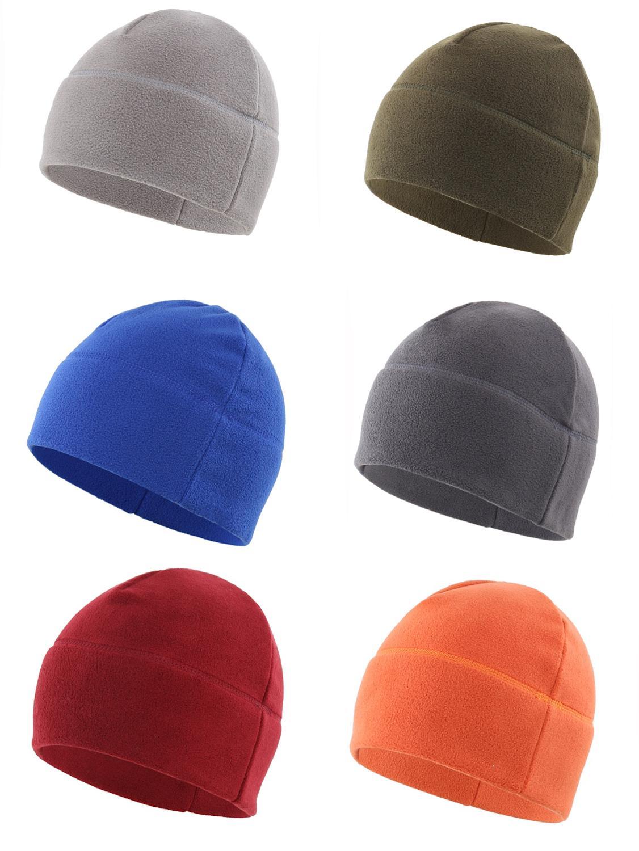 Connectyle Men's Women Breathable Winter Hat Soft Fleece Beanie Solid Warm Thick Skull Cap Outdoor Watch Cap Daily Cap