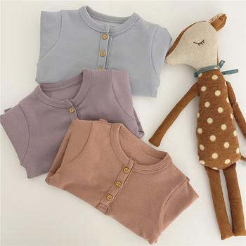 Niemowlęta i niemowlęta czysta bawełna 3 kolory z długim rękawem t-shirty jesienne chłopięce i dziewczęce koszulki bazowe tanie i dobre opinie Le MaBu Na co dzień COTTON spandex Pasuje prawda na wymiar weź swój normalny rozmiar Stałe O-neck Pełna Unisex