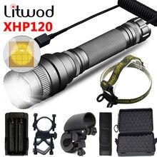 Torche tactique XHP120, imperméable, avec 2 piles 18650, Zoomable, lanterne de haute qualité, XHP90 XHP70 XHP50