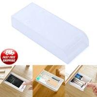 1 pc mesa de escritório em casa auto adesivo caixa de armazenamento portátil gaveta caneta caixas|Armazenamento p/ escritório em casa| |  -