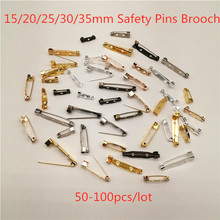 Brooch Safety-Pins Badges Jewelry Jewelry-Making-Accessories Gold for 50-100pcs Findings