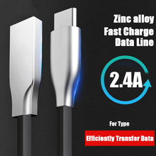 1m Zinc Alloy USB Type C Cable 2A USB C Charger Fast Data sync Charging Type-c Cable For Samsung Note 8 9 S8 s9 USB-C pofan p04 3 in 1 micro usb 8 pin type c zinc alloy data sync charging cable for ios android devices gold