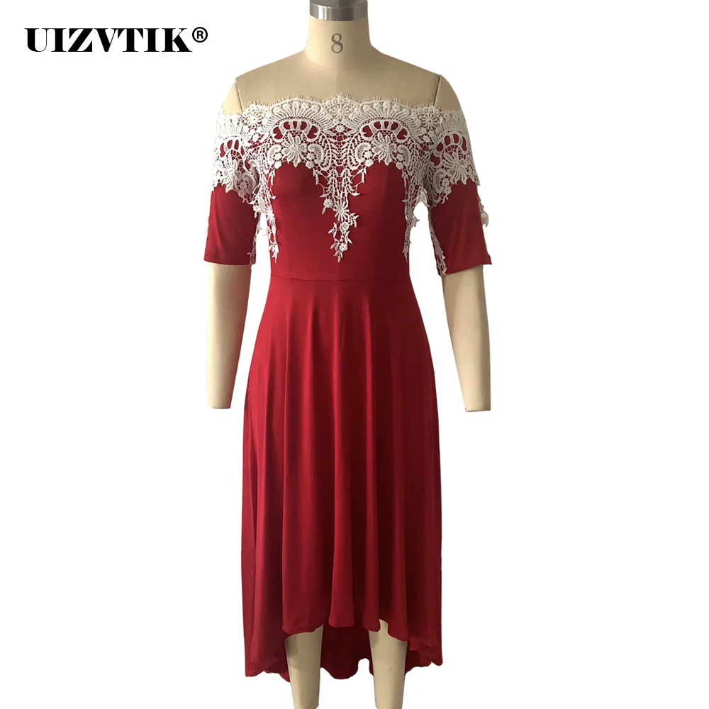 Strapless laço vestido de verão feminino 2020 elegante sexy slash neck formal longo vestido de festa casual plus size irregular maxi vestidos|Vestidos|   - AliExpress