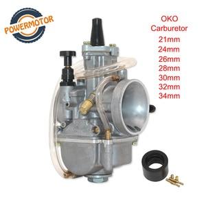 Carburetor OKO 21 24 26 28 30 32 34 For Keihin Aluminum Alloy Carburador With Power Jet For Racing Moto 90cc-250cc