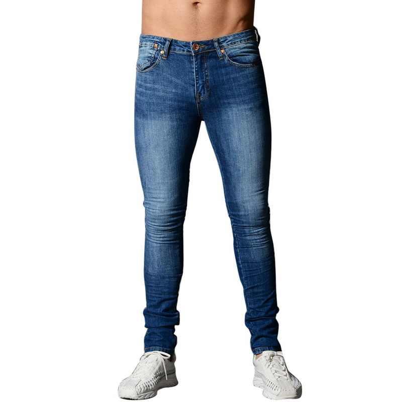Fashion Slim Fit Jeans Mannen Toevallige Denim Broek Stretch Denim Broek Herfst Streetwear Potlood Jeans Broek Kwaliteit Denim Jeans