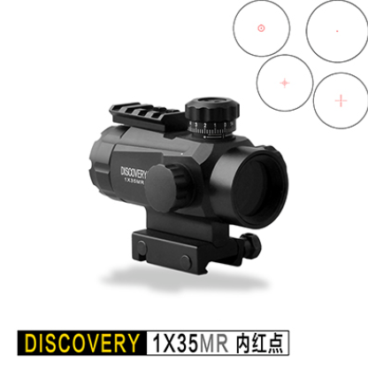 Discovery 1X35 Red Dot Tactical Optical Sight Hunting Rifle Scope 11 Level Brightness Control Picatinny 20mm Rail Fit Airsoft