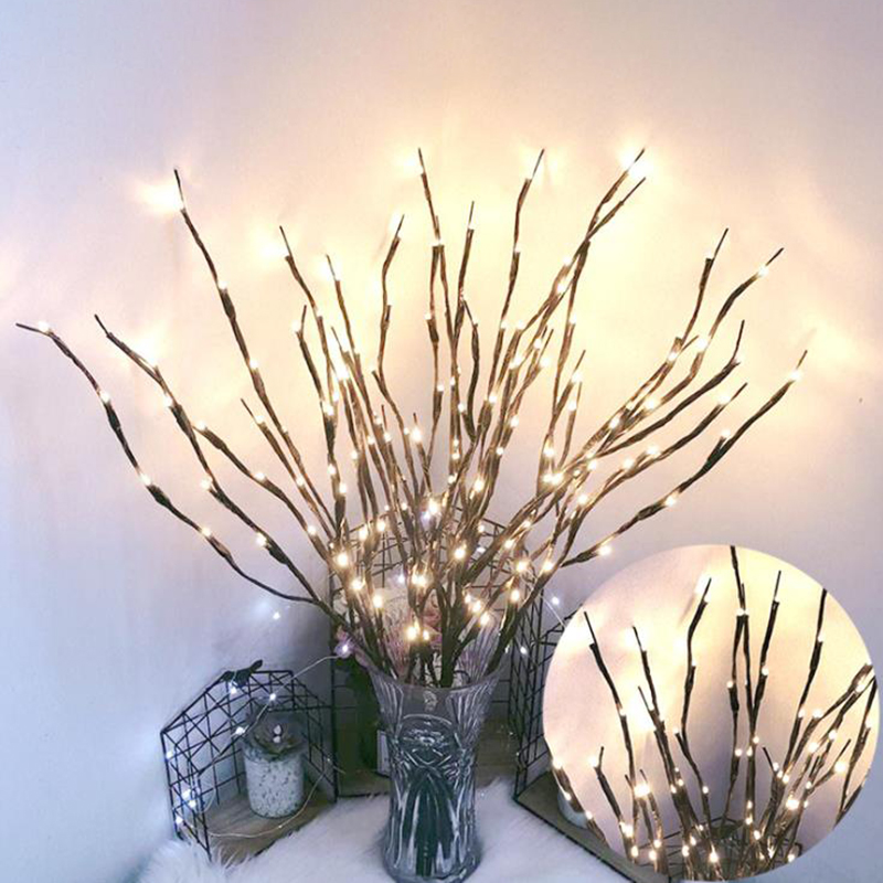 LED Fairy Light Simulation Branch Bedside Bedroom Night Light Table Lamp Home Decor Simulation Tree Wedding Party