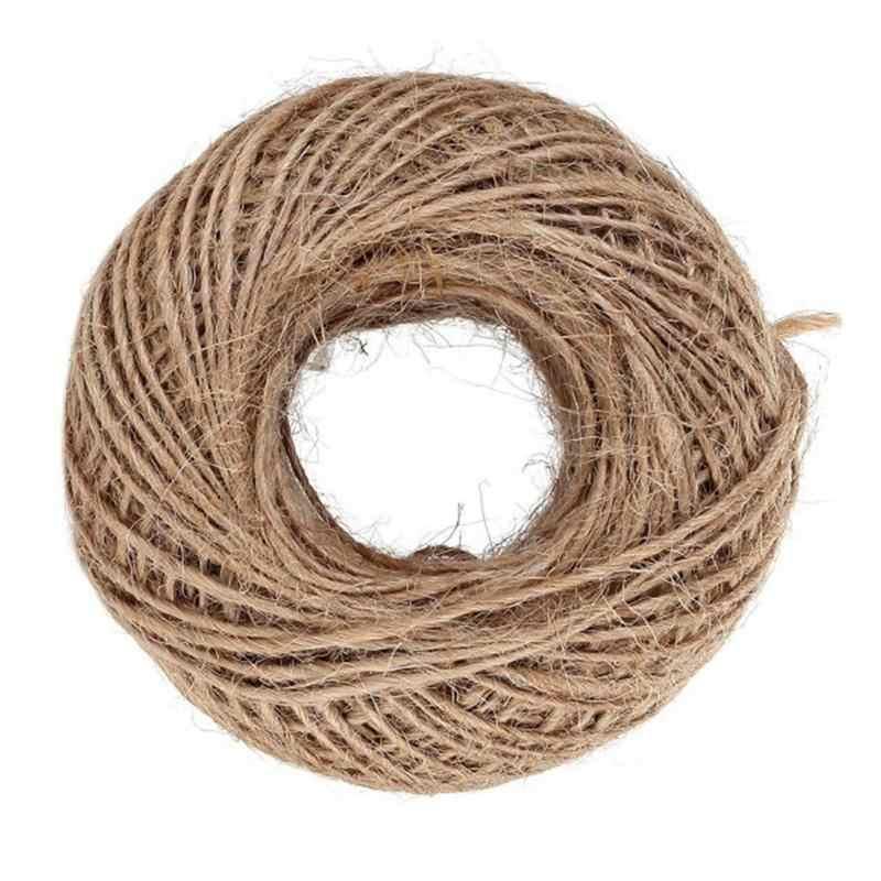 100M Naturale Corda di Canapa Juta Spago String Corda per Arte E Mestieri Fai da Te Imballaggio Del Regalo di Nozze di Compleanno Del Bambino Della Decorazione Doccia giardinaggio