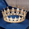 2020 새로운 패션 옐로우 크리스탈 금속 신부 티아라와 크라운 로얄 퀸 킹 신부 Diadem 댄스 파티 웨딩 크라운 헤어 쥬얼리