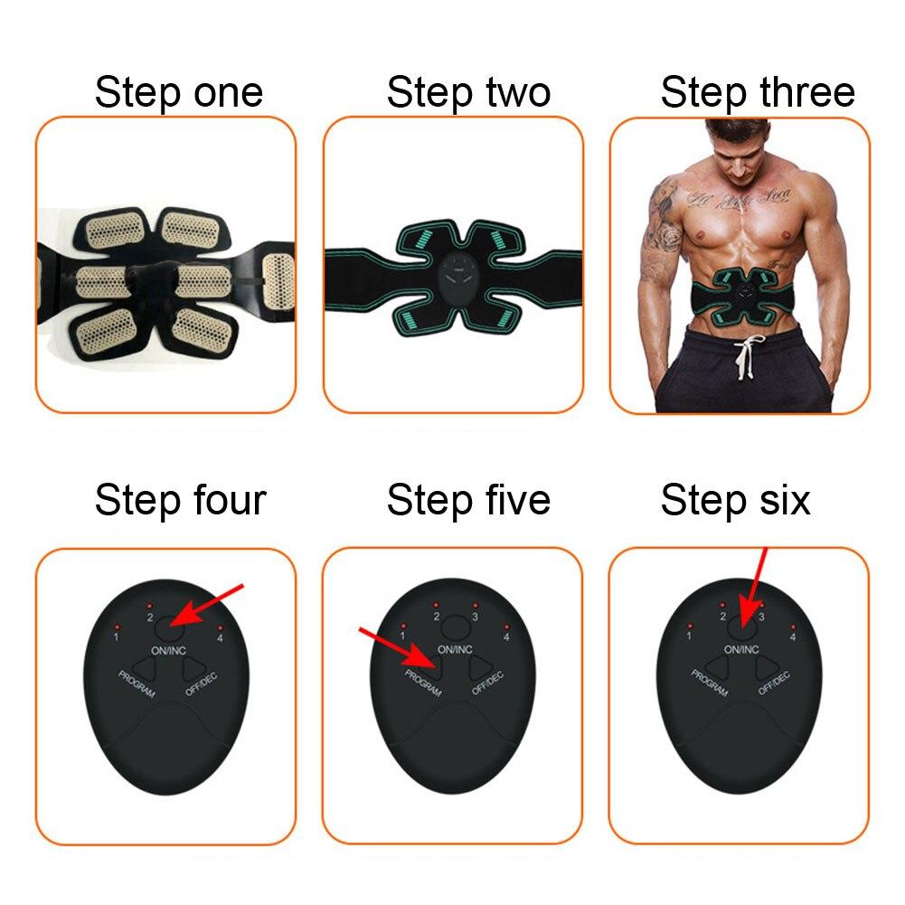 Домашний тренировочный пояс с ЖК-дисплеем, тренажер для мышц брюшного пресса, массажер для похудения тела, фитнес, умная повязка на руку, зарядка через usb, оборудование для тренажерного зала