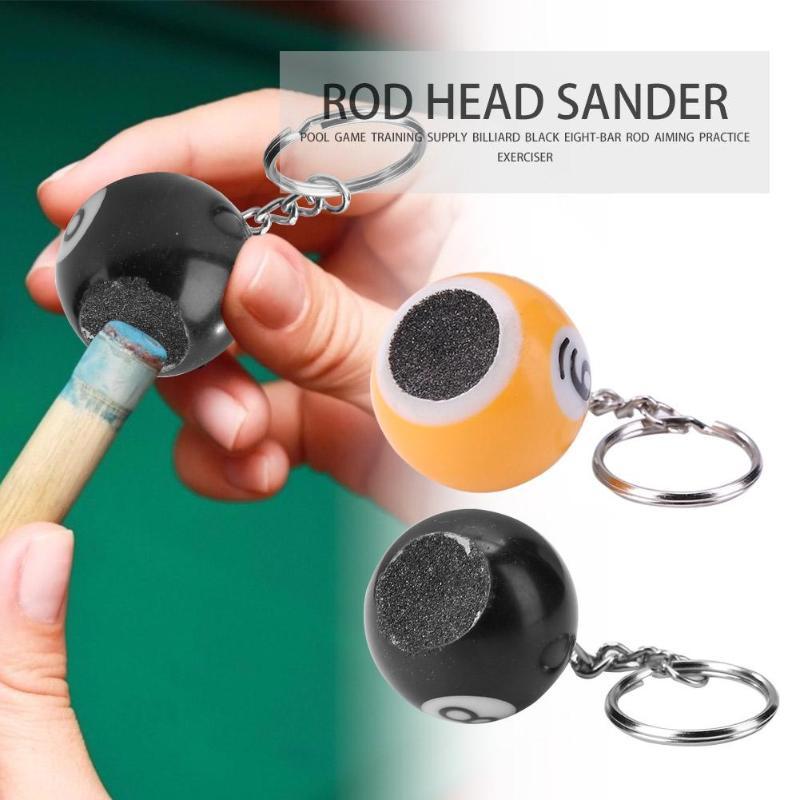 Portable Billiard Rod Tips Ball Shaper Pool Keychain Ball Cue Tips Sander Billiards Supplies Accessories