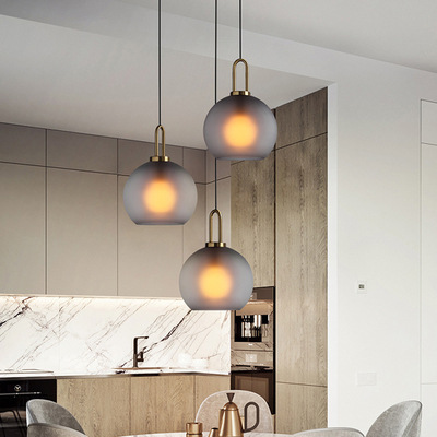 Işıklar ve Aydınlatma'ten Kolye ışıkları'de Modern cam ışıklı Avize İskandinav yemek odası mutfak ışığı tasarımcı asılı lambalar Avize parlaklık aydınlatma title=