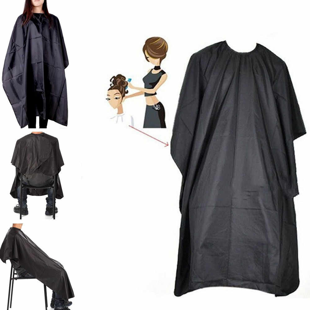 Professional ตัดผมผ้ากันน้ำ Salon Barber Gown Cape Hairdressing Hairdresser หมวกประมาณ 140X100 ซม.