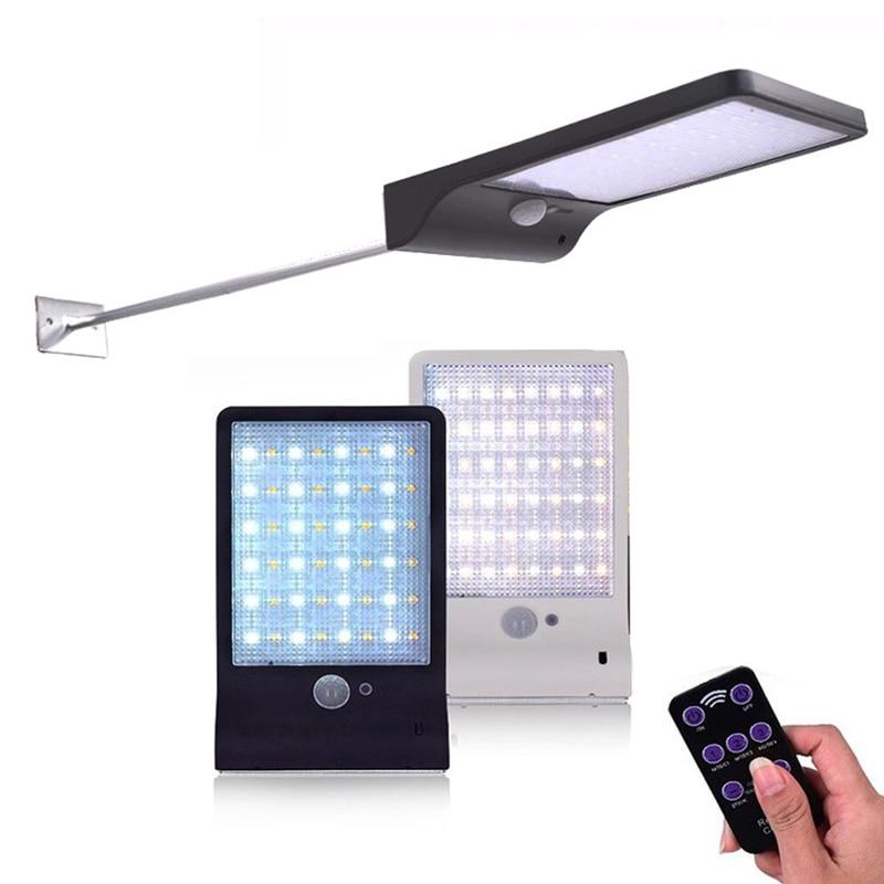 Newest 450LM 36 LED Solar Power Street Light PIR Motion Sensor Lamps Garden Security Lamp Outdoor Street Waterproof Wall Lights