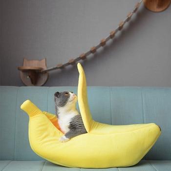 Niche pour chiens et chats forme banane