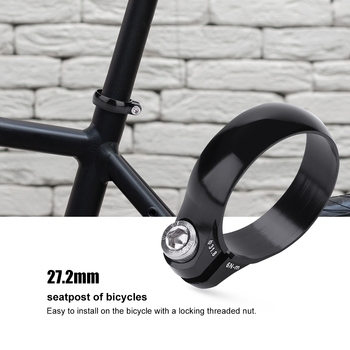 Bicycle Seatpost Clamps Quick release 31.8mm for 27.2 Aluminum Release Seat Post Bicycle Accessories image