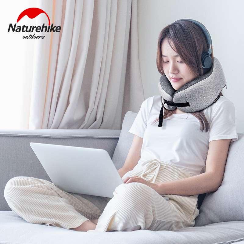 Naturehike U Shaped Memory Foam Neck Pillows Soft Slow Rebound Space Travel Pillow Solid Neck Cervical Healthcare Bedding