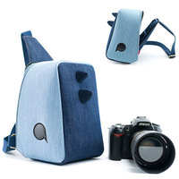 Cute DSLR Camera Bag Dinosaur Photo Bag Portable Waterproof Shoulder Camera Case Cover For Canon Nikon DSLR/SLR Cameras Backpack