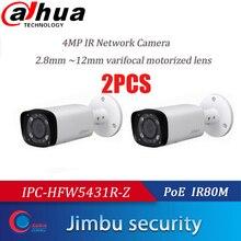 Dahua IPC HFW5431R Z 2 uds CÁMARA DE 4MP 80m IR con 2,7 ~ 12mm, objetivo VF Zoom motorizado enfoque automático Bullet IP cámara CCTV seguridad