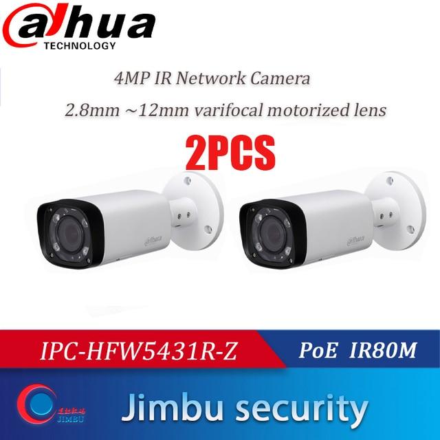 داهوا IPC HFW5431R Z 2 قطعة 4MP كاميرا 80 متر IR مع 2.7 ~ 12 مللي متر VF عدسة بمحركات التكبير السيارات التركيز رصاصة IP كاميرا CCTV الأمن
